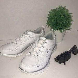 S Sport White Sneakers Memory Foam